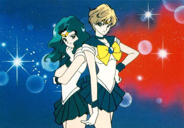 Sailor Neptune (Left) Sailor Uranus (Right)