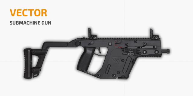 Sub Machine Gun - Vector